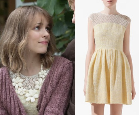 Rachel-About-Time-Mary-Yellow-Lace-Combination-Dress-Zara