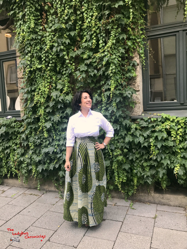 The Ladybug Chronicles green wax skirt (1)