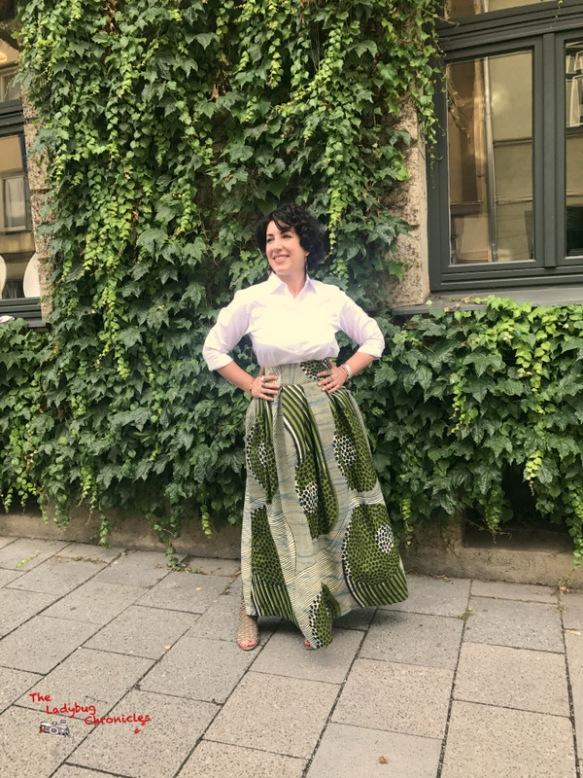 The Ladybug Chronicles green wax skirt (2)