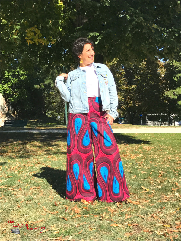 The Ladybug Chronicles Wax Wide Leg trousers and pins (4)