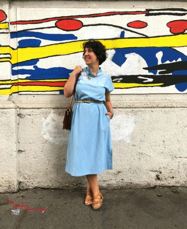 The Ladybug Humana pale blue dress (1)