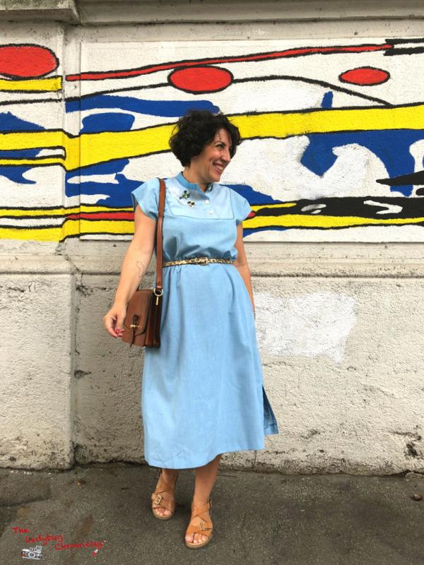 The Ladybug Humana pale blue dress (2)